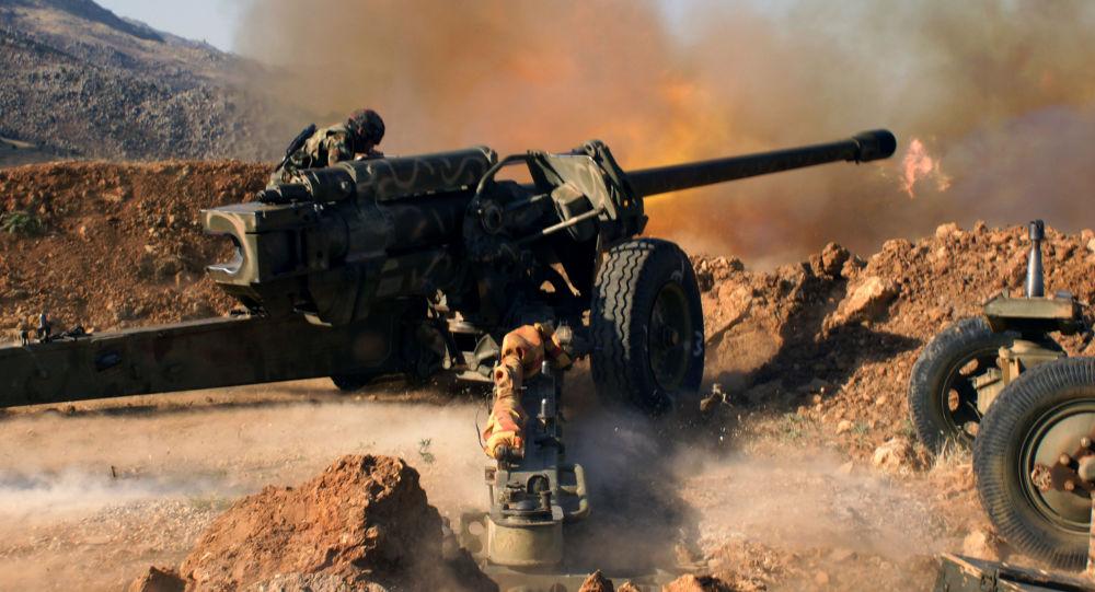 آتشباری مواضع داعش در سوریه